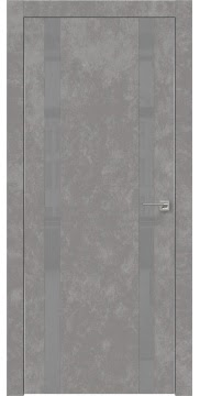 Межкомнатная дверь ZM008 (экошпон «бетон» / лакобель серый) — 0926
