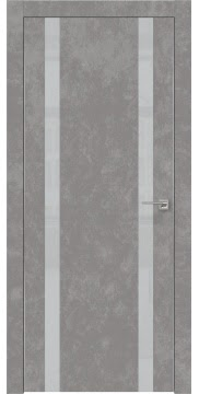Межкомнатная дверь ZM008 (экошпон «бетон» / лакобель светло-серый) — 0925