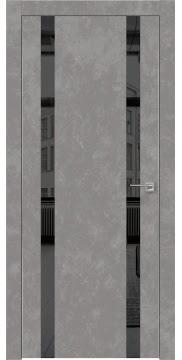 Межкомнатная дверь ZM008 (экошпон «бетон» / зеркало тонированное) — 0923