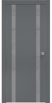 Межкомнатная дверь ZM008 (экошпон «графит» / лакобель серый) — 0931