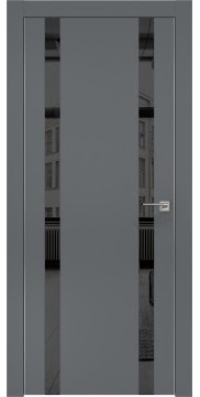 Межкомнатная дверь ZM008 (экошпон «графит» / зеркало тонированное) — 0928