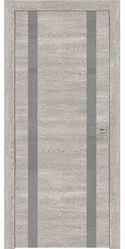 Межкомнатная дверь ZM008 (экошпон «серый дуб патина» / лакобель серый) — 0620