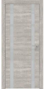 Межкомнатная дверь ZM008 (экошпон «серый дуб патина» / лакобель светло-серый) — 0934