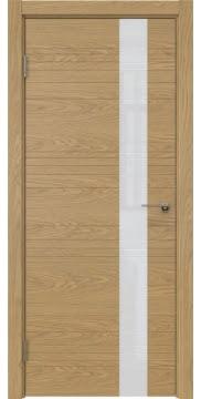 Межкомнатная дверь, ZM009 (шпон дуб натуральный, лакобель белый)