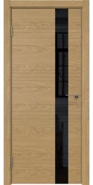 Межкомнатная дверь ZM009 (шпон дуб американский / лакобель черный) — 5386