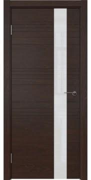 Межкомнатная дверь ZM009 (шпон дуб коньяк / лакобель белый) — 5387