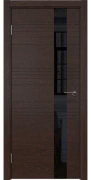 Межкомнатная дверь ZM009 (шпон дуб коньяк / лакобель черный) — 5388