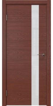 Межкомнатная дверь ZM009 (шпон красное дерево / лакобель белый) — 5389