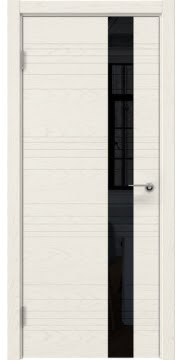 Межкомнатная дверь ZM009 (шпон ясень слоновая кость / лакобель черный) — 5394