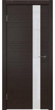 Межкомнатная дверь ZM009 (шпон ясень темный / лакобель белый) — 5395