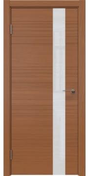Межкомнатная дверь ZM009 (шпон анегри / лакобель белый) — 5399