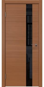 Межкомнатная дверь ZM009 (шпон анегри / лакобель черный) — 5400