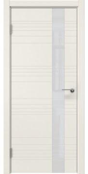 Межкомнатная дверь, ZM009 (эмаль слоновая кость, лакобель белый)