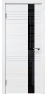 Межкомнатная дверь ZM009 (эмаль белая / лакобель черный) — 5404