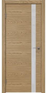 Межкомнатная дверь ZM012 (натуральный шпон дуба / лакобель белый) — 5311