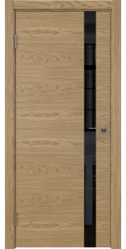 Межкомнатная дверь ZM012 (натуральный шпон дуба / лакобель черный) — 5312