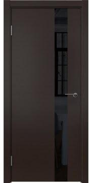 Дверь в стиле модерн ZM012 (шпон венге, лакобель черный)