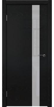 Межкомнатная дверь ZM012 (шпон ясень черный / лакобель белый) — 5803