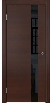 Межкомнатная дверь ZM012 (шпон итальянский орех / лакобель черный) — 5802