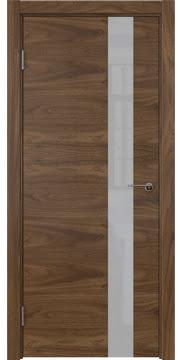 Межкомнатная дверь ZM012 (шпон американский орех / лакобель белый) — 5799