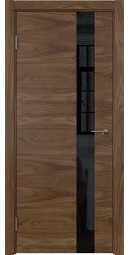Межкомнатная дверь ZM012 (шпон американский орех / лакобель черный) — 5800