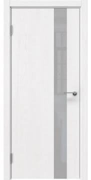 Межкомнатная дверь ZM012 (шпон ясень белый вертикальный / лакобель белый) — 5884