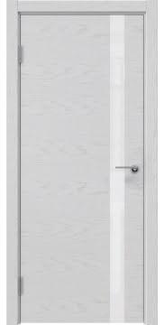 Межкомнатная дверь ZM012 (шпон ясень светло-серый / лакобель белый) — 5988