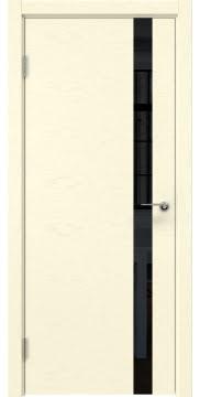 Межкомнатная дверь ZM012 (шпон ясень ваниль / лакобель черный) — 5987