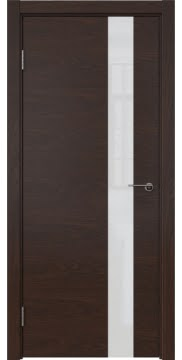 Межкомнатная дверь ZM012 (шпон дуб коньяк / лакобель белый) — 5313