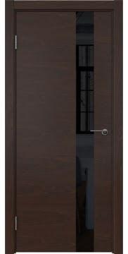 Межкомнатная дверь ZM012 (шпон дуб коньяк / лакобель черный) — 5314