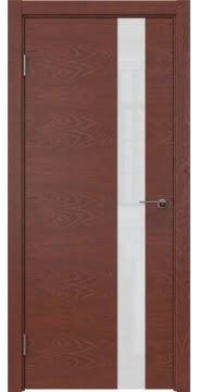 Межкомнатная дверь ZM012 (шпон красное дерево / лакобель белый) — 5315