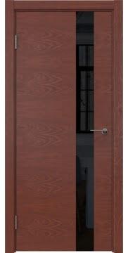 Межкомнатная дверь ZM012 (шпон красное дерево / лакобель черный) — 5316
