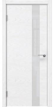 Межкомнатная дверь ZM012 (шпон ясень белый) / лакобель белый) — 5317