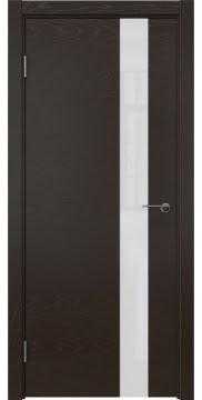 Межкомнатная дверь ZM012 (шпон ясень темный / лакобель белый) — 5321