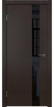 Межкомнатная дверь ZM012 (шпон ясень темный / лакобель черный) — 5322