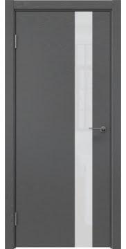 Межкомнатная дверь, ZM012 (шпон ясень серый, лакобель белый)