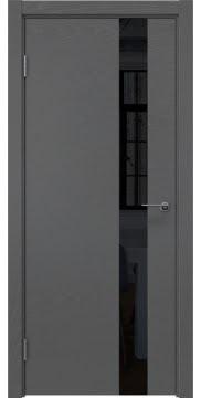 Межкомнатная дверь ZM012 (шпон ясень серый / лакобель черный) — 5324