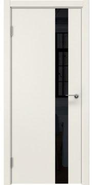 Межкомнатная дверь, ZM012 (эмаль слоновая кость, лакобель черный)