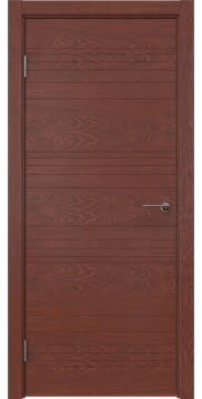 Межкомнатная дверь ZM013 (шпон красное дерево, глухая) — 5337