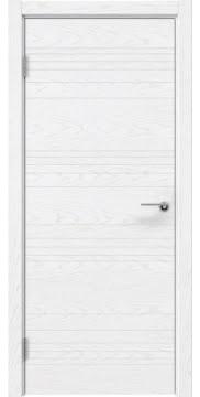 Глухая шпонированная дверь, ZM013 (белый ясень)