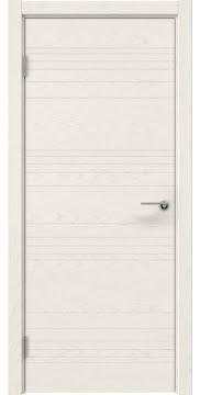 Межкомнатная дверь ZM013 (шпон ясень слоновая кость, глухая) — 5339