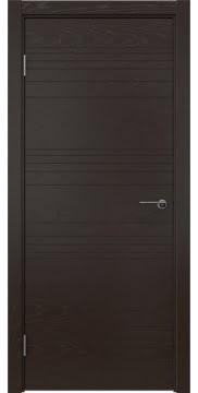 Межкомнатная дверь ZM013 (шпон ясень темный, глухая) — 5340