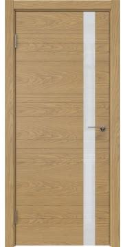 Межкомнатная дверь ZM014 (натуральный шпон дуба / лакобель белый) — 5345