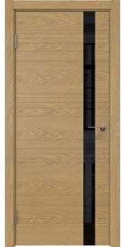 Межкомнатная дверь ZM014 (натуральный шпон дуба / лакобель черный) — 5346