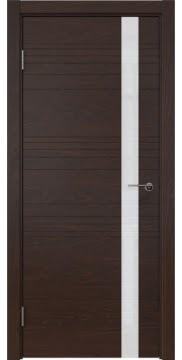 Межкомнатная дверь ZM014 (шпон дуб коньяк / лакобель белый) — 5347