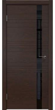 Межкомнатная дверь ZM014 (шпон дуб коньяк / лакобель черный) — 5348