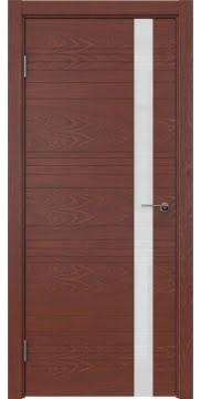 Межкомнатная дверь ZM014 (шпон красное дерево / лакобель белый) — 5349