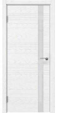 Межкомнатная дверь ZM014 (шпон ясень белый) / лакобель белый) — 5351