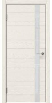 Межкомнатная дверь ZM014 (шпон ясень слоновая кость / лакобель белый) — 5353