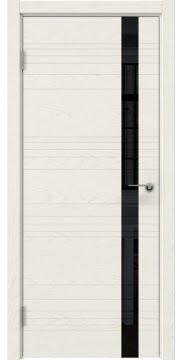 Межкомнатная дверь ZM014 (шпон ясень слоновая кость / лакобель черный) — 5354